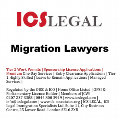 ICS Legal UK Immigration Lawyers Visa Specialists - Oxford
